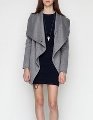 ++ shawl collar coat