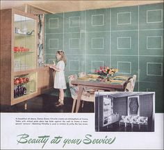 1950 Vitrolite Dining Room | by American Vintage Home