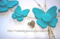Бабочки из полимерной глины. Автор vosembysin