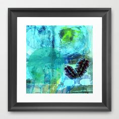 hula flower Framed Art Print by Deb Haugen - $42.00