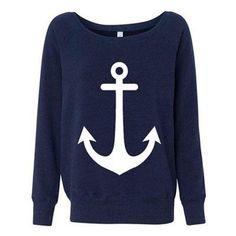 Haar > Kleding > Truien / vesten > Truien > Girls Anchor Sweater blue - Kill Star - Attitude Holland (since 1999)