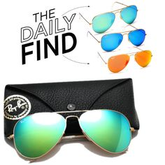 The Daily Find: Ray-Ban Aviator Mirrored Sunglasses, created by polyvore-editorial on Polyvore