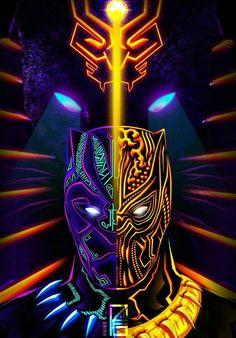 Black Panther & Golden Jaguar, T& - Black Panther Marvel, Film Black Panther, Black Panther Helmet, Marvel Art, Marvel Heroes, Marvel Avengers, Deadpool Wallpaper, Avengers Wallpaper, Top Superheroes