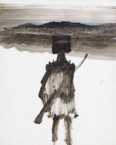 Sidney Nolan (Australian, Ned Kelly, Oil on paper, 64 x cm. Australian Painting, Australian Artists, Great Paintings, Abstract Paintings, Sidney Nolan, Ned Kelly, Prehistory, Aboriginal Art, Figure Painting