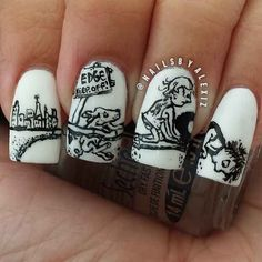 Where the Sidewalk Ends | 15 Works Of Nail Art Inspired By Your Favorite Children's Books