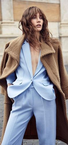 In love with this powder blue suit look