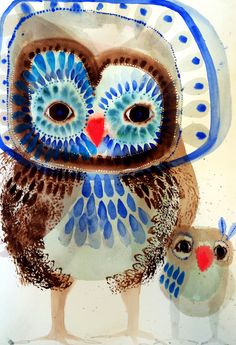"""Wilson & Co"" Limited Edition Art Print A stunning reproduction of 'Wilson & Co', a Jessie Breakwell Gallery original. Owl Wall Art, Owl Art, Bird Art, Animal Art Prints, Animal Paintings, Wall Art Prints, Art And Illustration, Painting For Kids, Art For Kids"
