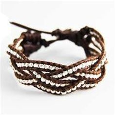 braided leather beaded bracelet