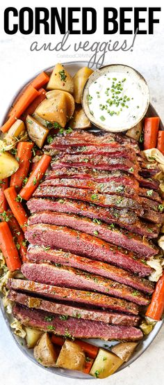 This corned beef is cured in homemade pickling seasonings, slathered with a brown sugar Dijon glaze then cooked in the oven, slow cooker, stove or instant pot with potatoes, carrots or cabbage for a one-pot dinner! It's salty, spicy, fall-apart-tender and way better than store-bought! #cornedbeef #beef #beefbrisket #Stpatricksday #cornedbeefbrisket Pork Recipes, Slow Cooker Recipes, Pasta Recipes, Chicken Recipes, Cooking Recipes, Irish Recipes, Recipies, Cooking Corned Beef, Corned Beef Brisket