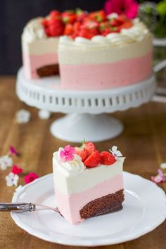 Strawberry Cheesecake, Cute Cakes, Mousse, Desserts, Food, Photography, Inspiration, Tailgate Desserts, Biblical Inspiration