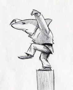 Draw Sharks Karate Shark by RobtheDoodler - Animal Drawings, Art Drawings, Drawing Sketches, Drawings Of Sharks, Shark Drawing, Shark Art, Cute Shark, Mermaid Drawings, Mythical Creatures Art