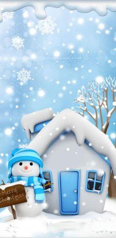Christmas Wallpaper Android, Merry Christmas Wallpaper, Xmas Wallpaper, Winter Wallpaper, Apple Wallpaper, Iphone Wallpaper, Christmas Scenes, Christmas Snowman, Christmas Time
