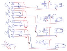 Sketch of wiring diagram for trackside signals | train | Pinterest ...