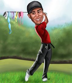 Tiger Woods  If they throw it at you...you have to catch it!