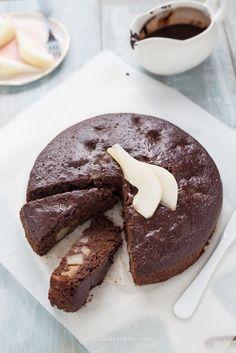 Torta pere e cioccolato vegan (senza uova, burro e latte) - Chiarapassion