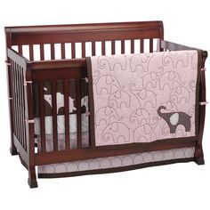 "Carter's Pink Elephant 4-Piece Crib Bedding Set - Carters - Babies ""R"" Us"