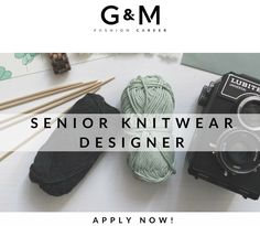 CALLING ALL #KNITWEAR #DESIGNERS! Are you a knitwear guru looking for an exciting job? Send your #CV to info@gm-fashioncareer.com #gmfashioncareer
