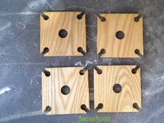 Party of Four hardwood rack for wine bottle and by BandyWoodworks