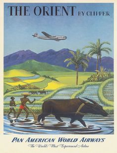 "Pan American Air Lines 11"" X 17"" Travel Poster - THE ORIENT] - , in [Art, Art from Dealers & Resellers, Posters 