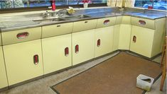 A vintage 1956 English Rose kitchen - including REVO oven - Retro Renovation