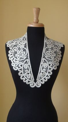 A beautiful Lace Scarf is made of famous Russian tape bobbinglace technology by me.    Linen off white  Suitable all size.    Handwowash or dry clean. Iron with a towel over.      Ready to ship .    Have the fine