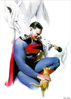 Kingdom Come Superman, Krypto, Streaky, Comet, and Beppo! Art by Alex Ross! Superman And Lois Lane, Superman Family, Batman And Superman, Superman Stuff, Alex Ross, Dc Comics Art, Fun Comics, Marvel Dc Comics, Thor Marvel