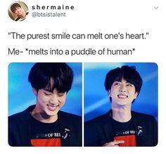 He has the most unique smile it MAKES ME WEAK