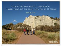 Psalm 25:4 photo at Garden of the Gods in Colorado Springs by Taa Dixon https://twitter.com/#!/taaDixon