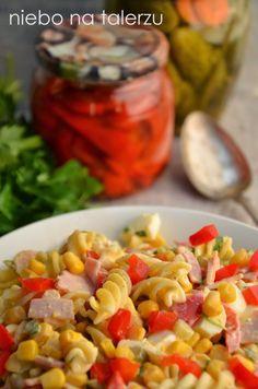 Sałatka zmakaronem Pasta Salad, Salad Recipes, Salads, Recipies, Vegetables, Ethnic Recipes, Food, Drink, Essen