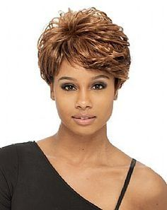Elia Synthetic wig by Janet Collection-TF-BLUE by Janet Collection. $26.99. Has adjustable straps and hooks for secure fit.. Manufactured by Janet Collection. Best quality synthetic short wig. Short style wig. Synthetic full cap wig made by Janet Collection