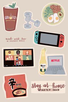 Korean Stickers, Anime Stickers, Kawaii Stickers, Cool Stickers, Printable Stickers, Journal Stickers, Scrapbook Stickers, Planner Stickers, Kawaii Drawings