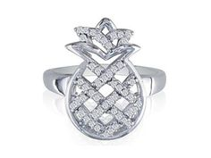 """I NEED <3 lol 925 Sterling Silver Diamond """"Pineapple"""" Ring Jewelry"""