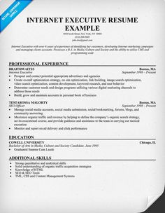 Account executive, Resume and Executive resume on Pinterest