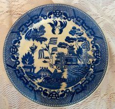 Made in occupied Japan Blue Willow plate