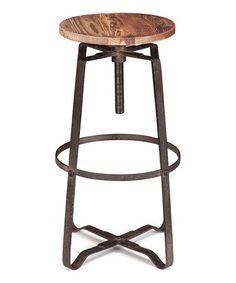 Look what I found on #zulily! Distressed Natural Wilde Bar Stool by Zuo Modern #zulilyfinds