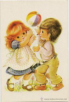 interesante postal: divertidos niños jugando co - Comprar Niños en ...By Maria Elena Lopez