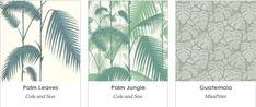 papier peint feuilles palmier - Le Blog déco de MLC -