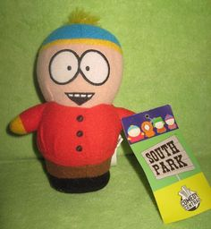 "South Park Eric Cartman Stuffed Plush Toy Doll 6"" 2008 Comedy Central"