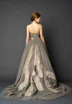 gorgeous!  non-traditional wedding dress?