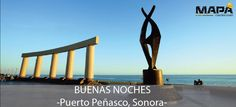 """#BuenasNoches: """"Malecón de Puerto Peñasco"""" #Sonora, el cual fue recientemente remodelado, tratandose de un espacio cultural y convivencia a lo largo de 450m."""