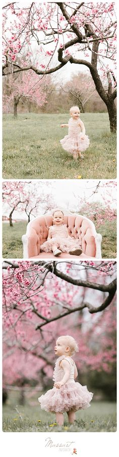 Spring styled portrait session; flowering trees; tutu; outdoor photo shoot | Photos by Massart Photography, RI MA CT | www.massartphotography.com | info@massartphotography.com