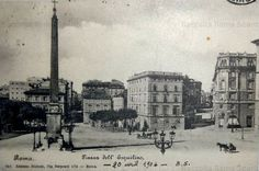 Piazza dell'Esquilino1904 Old Pictures, Civilization, Rome, The Past, Statue, History, World, Painting, Antique
