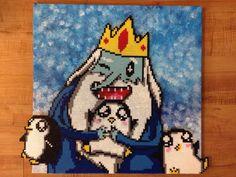 Adventure Time Ice King perler bead sprite by BelugaWhales