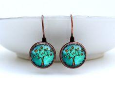 Etsy: Copper Tree Earrings: Dangle Earrings. Copper Earrings. Studs. Art. Handmade Jewelry. Trees. Jewellery. Lizabettas