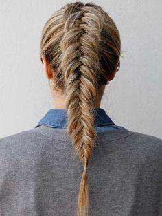 Channel your inner mermaid with this incredible inverted fishtail ponytail braid. It's no more difficult than a traditional fishtail, but it's got an extra touch of trendiness. Get Step-by-Step Instructions