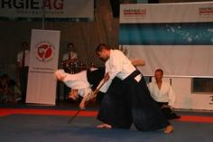 Aikidovorführung in Neuhofen / Krems im Rahmen des Karate Camps am 1. August 2015 - Jo Kokyonage