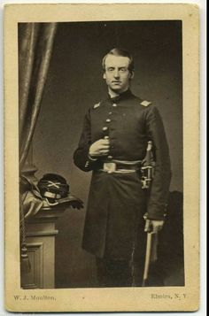 Handsome Yank officer at Elmira, NY