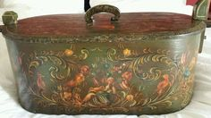 RARE Dutch FolkArt Folk Art Early Handpainted Wood Treen Suitcase 1800 S | eBay  sold   405.00.    ...~♥~