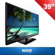 """Tenha em sua casa imagem nítida, som de qualidade e tecnologia de ponta com a TV LED 39"""" DTV Full HD USB LE39D3330! Confira nossa #OfertaNagem de hoje."""