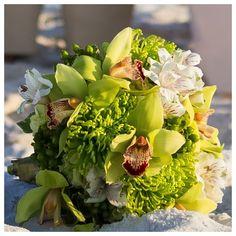 destin, florida beach  bridal bouquet wedding by Princess Wedding Co